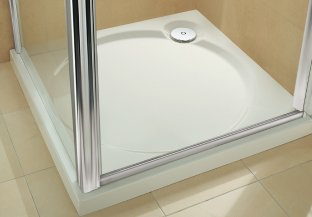 Coratech Slimline 60 trays Shower from Coram Showers sit just 60mm above the floor. Each model has been carefully sculpted with subtle angled sides and a shallow sloping circular or elliptical recess.