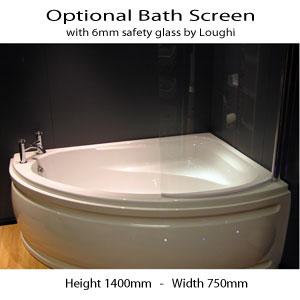 Corner Shower Bath With Screen