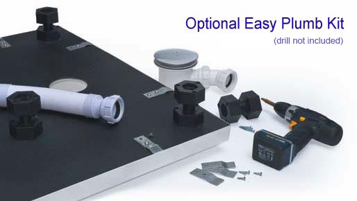 Shower Tray Easy Plumbing Kit - For when you need to raise the height of the shower tray for plumbing purposes.