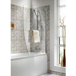 An Ellbee Bath Screen with Towel Rail
