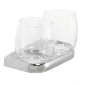 Metasoft Twin Tumblers and Holder