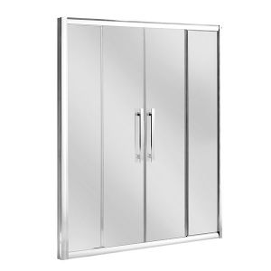 1500mm Central Opening Double Sliding Shower Door 8mm Glass