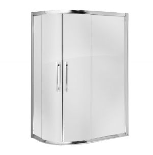 800 x 1000mm Two Door Offset Quadrant 8mm Glass Shower Enclosure