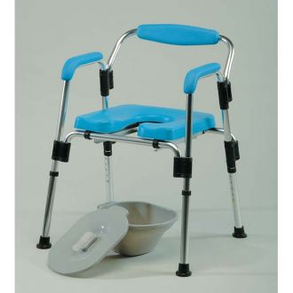 3-in-1 shower chair and Toilet for the Disabled, by Homecraft