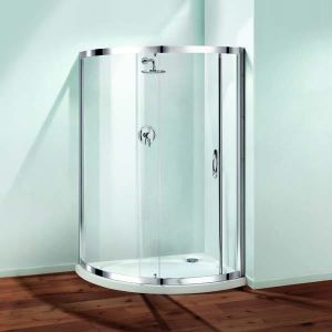850mm Coram Premier Cresent Shower Enclosure