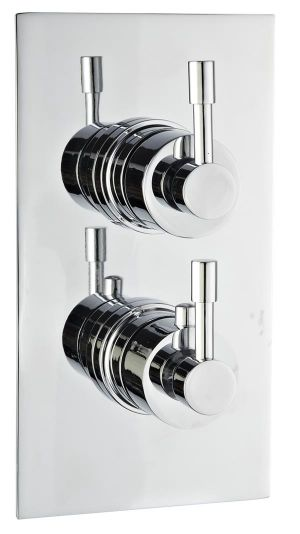 Mayfair Amazon Chrome Dual Handle Concealed Thermostatic Shower Valve and Shower Arm AMA100