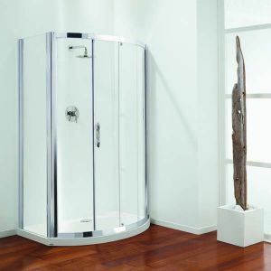 1200mm Coram Premier Bow Front Shower Sliding Door