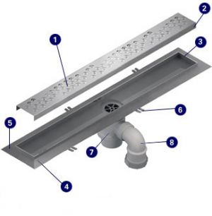 Wet Room ACO Shower Channel for tiled floor - 1000mm