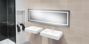 HiB Alto Back-lit LED Steam-Free Bathroom Mirror