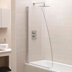 April Identiti2 1400 x 800mm Sail Single Bath Screen
