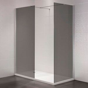 April Identiti2 900mm Wetroom Panel Smoked Glass