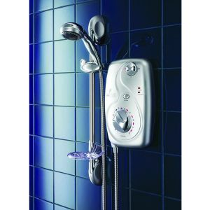 Which Electric Shower - Galaxy Aqua 3000 Satin Chrome shower from MBD Bathrooms