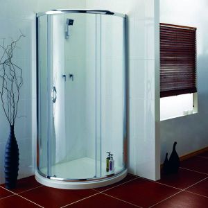 1000mm x 1000mm Aqualux Aquanos Single Door, Centre Opening Teardrop Shower Quadrant Enclosure