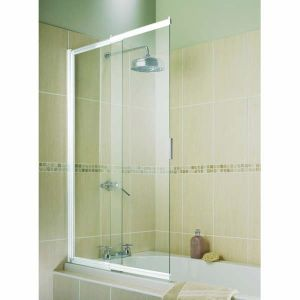 Aqualux Aquarius 2 Panel Slider Bath Screen