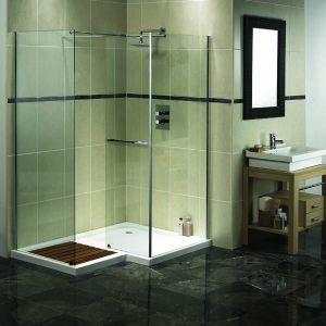 Aqualux AquaSpace Square Walk-in Shower Panels and Side Panel 1500mm x 1000mm