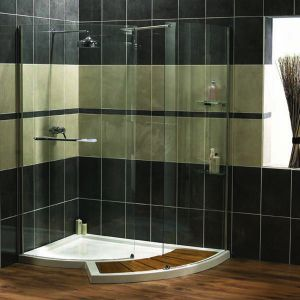 Aqualux AquaSpace Walk-around Shower Panel and Side Panel 1500mm x 1322mm