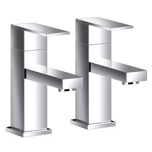 Blade Bathroom Basin Taps (Pair)