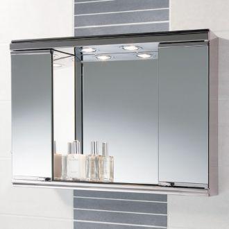 mini burga mirrored bathroom cabinets with lights