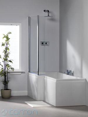 Carron carronite quantum square shower bath 1600mm x 700mm for Bathroom decor midland