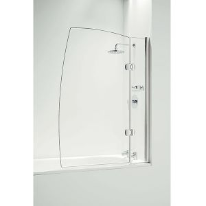 Coram Hinged 1050mm Sail Bath Screen with Panel