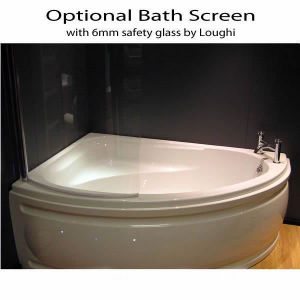 Loughi Bath Screen - Compatible with Laguna and Orlando Corner Baths