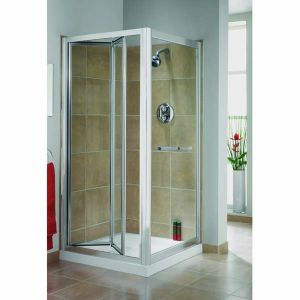 Aqualux Elite Classic Bi-Fold Shower Door 900mm x 900mm