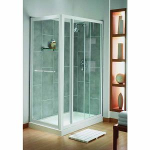 Aqualux Elite Classic Sliding Shower Door 1100mm