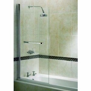 aqualux elite modern half framed stepped bath screen