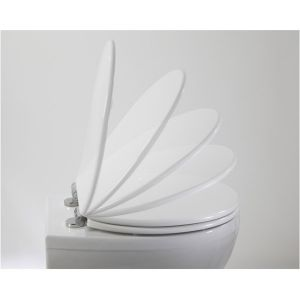 Elite White toilet seat by Roper Rhodes. Supplied by Midland Bathroom Distributors.