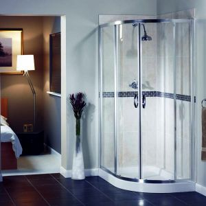 Aqualux Elite Modern Off-Set Quadrant 1200mm x 800mm Shower Enclosure