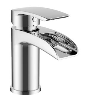 Mayfair Glide Chrome Waterfall Monoblock Basin Mixer Tap GLD009