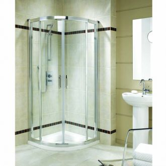 Twyford Bathrooms - 800mm x 800mm  Geo6 Shower Quadrant Enclosure