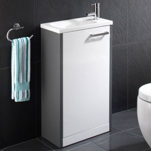 Solo 50cm Floor Standing Anthracite/White Unit
