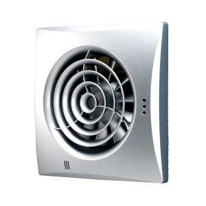 Hush Matt Silver Wall Mounted Fan