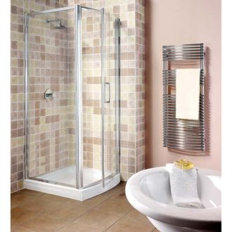 Manhattan Shower Enclosure 800mm Hinged Bowfront Door