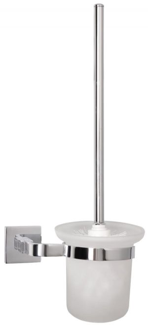 Mayfair Ice Chrome Finish Brass Toilet Brush Holder ICE405