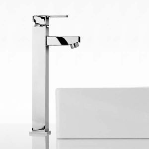 Mayfair Taps - Ice Quad Lever Freestanding Basin Tap Mono (L)