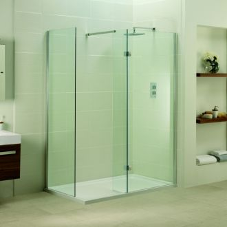 Aquadart Inline Closed Side Fixed Panel Walk In 800mm