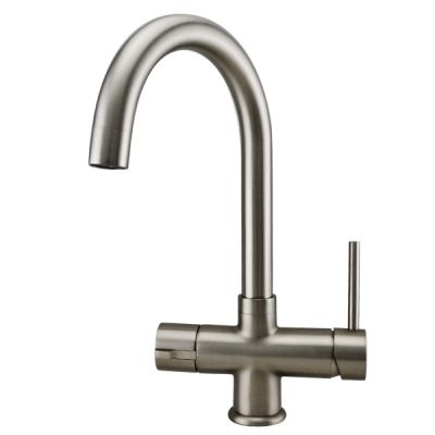Mayfair Escala 3 in 1 Instant Hot Filtered Tap Kitchen Mixer Tap Brushed Nickel Finish KIT701