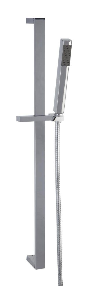 Mayfair Kubo Chrome Dual Handle Concealed Thermostatic Shower Valve and Slide KUB300
