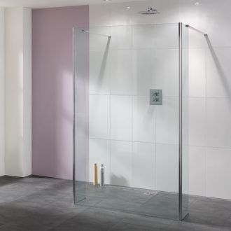 Lakes Bathrooms Coastline Collection Riviera Shower Screen 1200mm