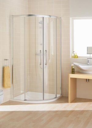 Lakes Low Threshold Double Door Quad 900mm Shower Enclosure LKV3R09005