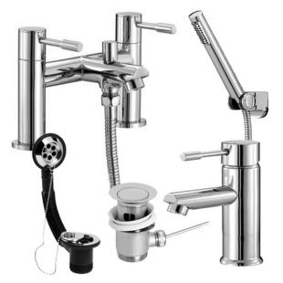 Series F Bath Shower Mixer and Basin Mono Tap Pack
