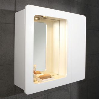 mirrored bathroom cabinet with lights 9101400 by hib bathrooms