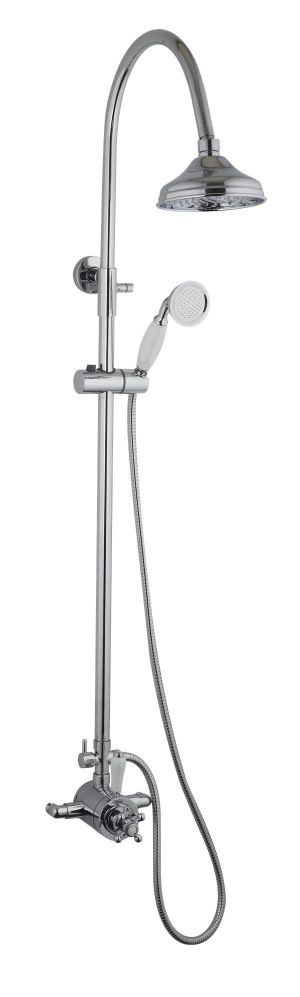 Mayfair Oxford Chrome Exposed Thermostatic Shower Valve and Riser Kit OXF200