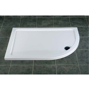 Offset Quadrant Shower Tray 900mm x 760mm - Resin Lite - Durastone Shower Tray