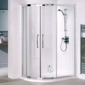 1000mm x 800mm Lakes Offsett Quadrant Shower Enclosure