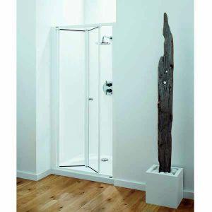 800mm Coram Optima Shower Bi Fold Door Coram Optima Shower Enclosures Obf80cuw From Mbd Bathrooms