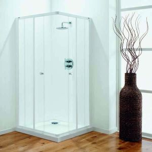 900mm Coram Optima Shower Enclosure Corner Entry