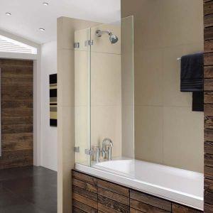 800mm ellbee profile design bath screen by ellbee for Bathroom decor midland